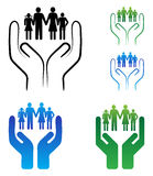 Family care. Illustration of family care concept on white background Royalty Free Stock Image