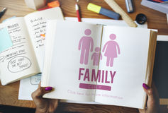 Family Care Genealogy Love Related Home Concept Stock Images