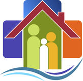 Family care logo Stock Photo
