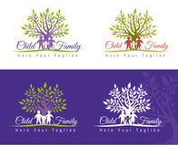 Family care. Logo vector design. Child Care and Medical Services. Child freedom and active lifestyle Royalty Free Stock Images