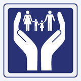 Family care sign Stock Image