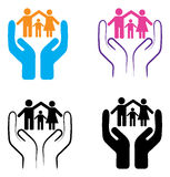Family care. Simple illustration of family care on white background Stock Images