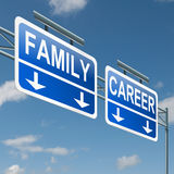 Family or career. Royalty Free Stock Photos