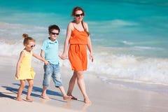 Family at Caribbean beach Royalty Free Stock Photo