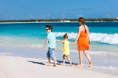 Family at Caribbean beach Royalty Free Stock Photography