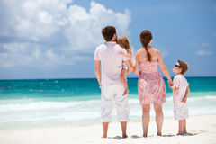 Family on Caribbean vacation Stock Photography
