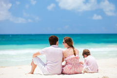 Family on Caribbean vacation Stock Images
