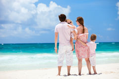 Family on Caribbean vacation Stock Photo