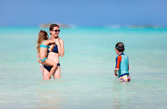 Family Caribbean vacation Royalty Free Stock Image