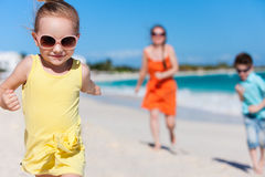 Family on a Caribbean vacation Royalty Free Stock Photography