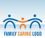 Family Caring Logo. Representative Family Caring Logo with mother, father and child Stock Images