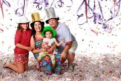 Family and Carnibal Stock Photo