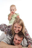 Family on a carpet Royalty Free Stock Image