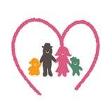 Family cartoon concept stock illustration