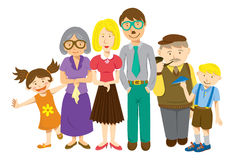 Family cartoon vector illustration