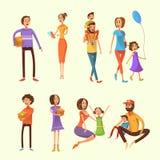 Family Cartoon Set Stock Photography