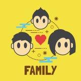 Family cartoon Royalty Free Stock Image