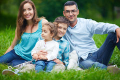 Family in casual Stock Images