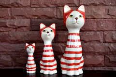 Family cat. Toy decoration home Stock Photo