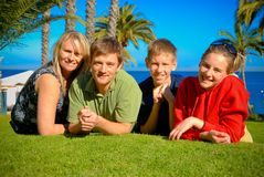Family on Catalina Island. Family together on Catalina Island Stock Photos
