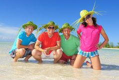 Family on Cayo Coco Royalty Free Stock Photos
