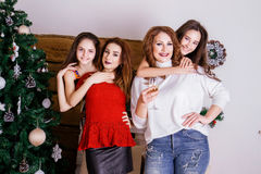 Family Celebrates New Year Royalty Free Stock Image