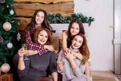 Family Celebrates New Year Stock Image