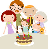 Family celebrating birthd Stock Images