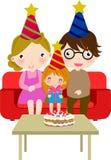 Family celebrating birthday Royalty Free Stock Photos