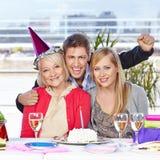 Family celebrating birthday Stock Photography