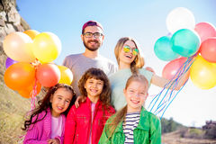 Family celebrating birthday Stock Image