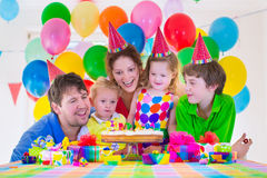 Family celebrating birthday party Royalty Free Stock Images