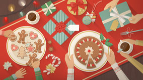 Family celebrating Christmas at home Royalty Free Stock Photography