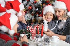 Family celebrating Christmas Royalty Free Stock Image