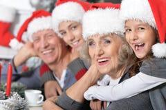Family celebrating Christmas Royalty Free Stock Photo