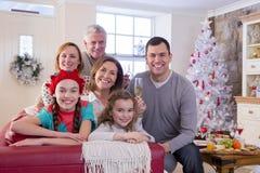 Family celebrating at Christmas Royalty Free Stock Image