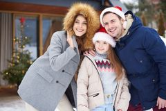 Christmas morning stock images