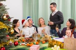 Family Celebrating Christmas together Royalty Free Stock Photo