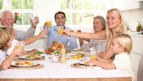 Family celebrating at the holidays Stock Photography