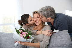 Family celebrating mother's day Royalty Free Stock Photo