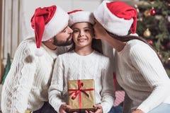 Family celebrating New Year Stock Image