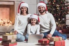 Family celebrating New Year Royalty Free Stock Photo