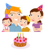 Family Celebrating their Birthday Royalty Free Stock Images