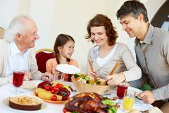 Family celebration Royalty Free Stock Image