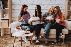 Family Celebrete 8 March Together. Beautiful Time. Beauty Girl Time Together. Springtime for Gift. Happy Holiday Together. Breakfast with Family. Care Family stock image