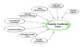 Family-Centered Care Assessment. Presenting Diagram of Family-Centered Care Assessment royalty free illustration
