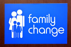 Family change Stock Photography