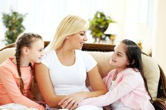 Family chat Royalty Free Stock Photography