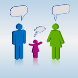 Family Chat Bubbles Stock Images