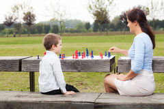 Family chess Stock Photography